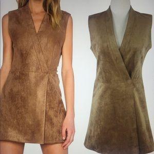 Gorgeous Brown Suede Bcbg Max Azria Dress